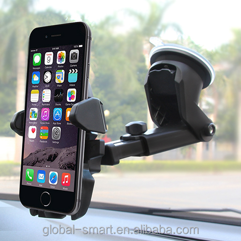 wholesale promotional car mount phone holder plastic general mobile phone car cell phone mount