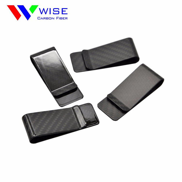 high quality custom carbon Xmas gift money clip new design carbon fiber money clip