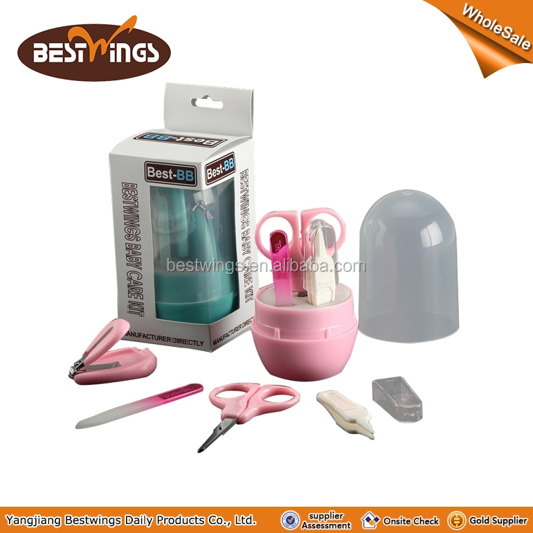 utility baby kit baby manicure set including nail clipper, nail file,scissors,nose clipper packed in colour window box