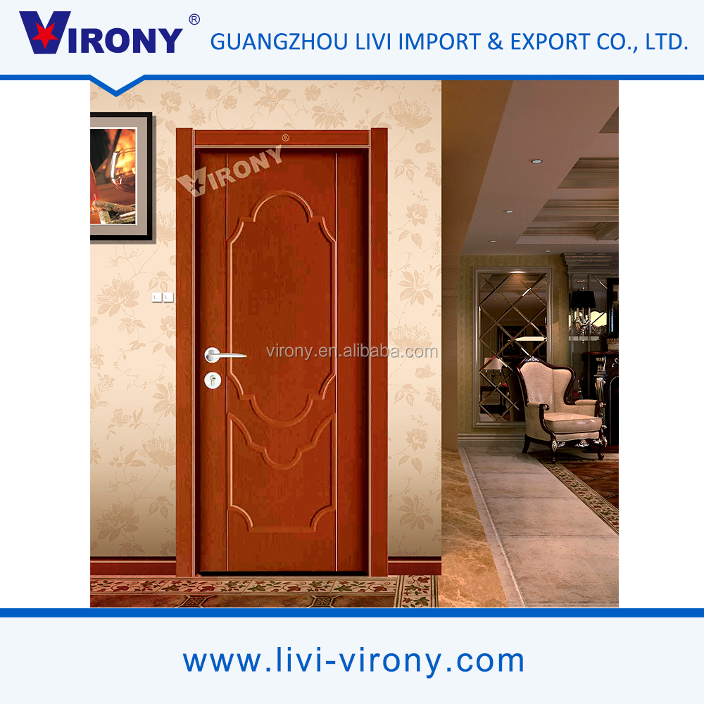 2016 new economic latest plain wooden door