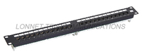 24 ports Cat5e 2*12 patch panel with KRONE IDC