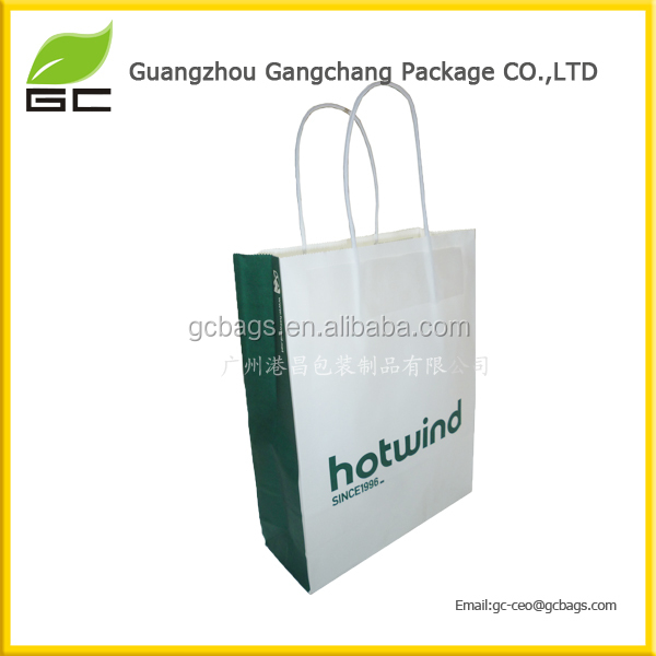 Hot sell customized special logo wholesale shopping paper bag for sellin