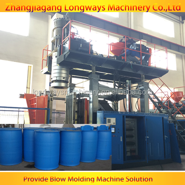 HDPE blow molding machine 120l drum /200L HDPE drum blowing machine / drum blow moulding machine