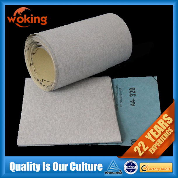 "9""x11"" waterproof abrasive sanding paper roll for floor, car, wood, metal surface etc"
