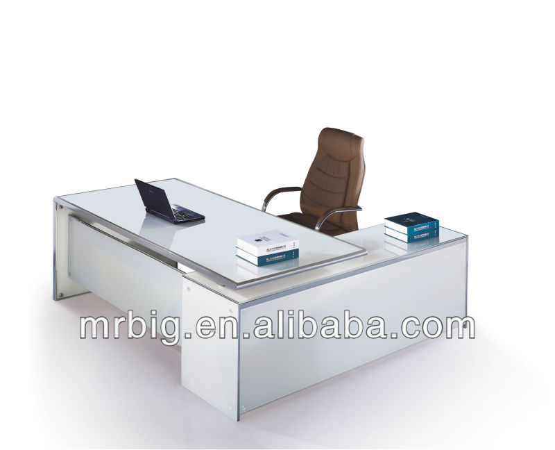 white tempered glass office table db038 - buy office glass table