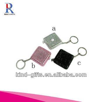 New Bling Rhinestone Bead Custom Keychains China Factory