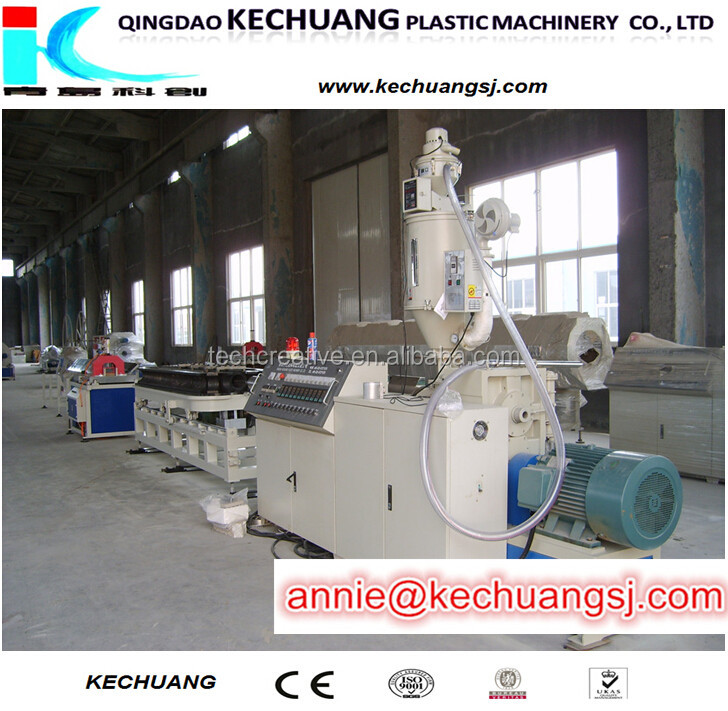 Flexible Plastic PVC HDPE single wall corrugated wiring pipe making machine manufacturing machine