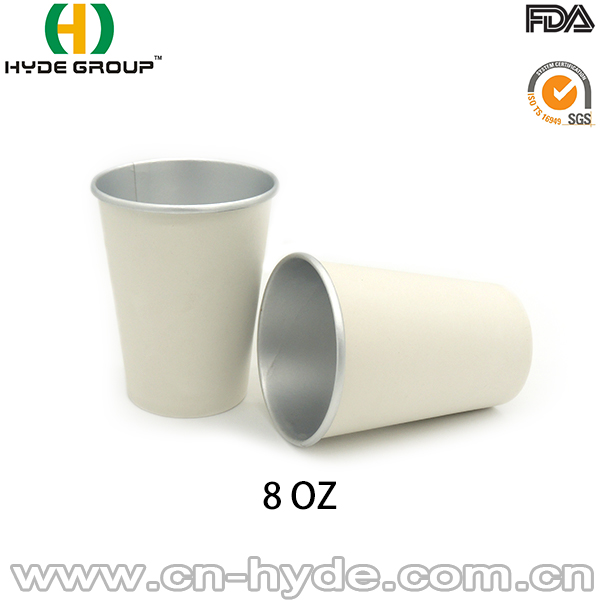 Disposable 8oz Aluminium Coated Paper Coffee Cup For Hot Drink