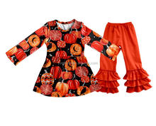 New Halloween pattern baby clothing sets manufacturers overseas girls boutique clothing baby girl clothing