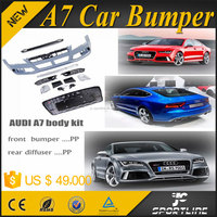 Plastic RS7 Style A7 Auto Car Bumpers for AUDI A7 2011UP with Grill