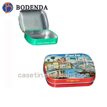 Embossing custom mini gums tins