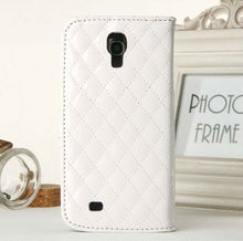 for Samsung Galaxy S4 i9500 mobile phone leather case with card holster