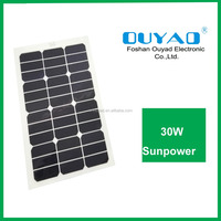 Cheap price from China ISO factory for electrombile min sunpower 30W flexible solar panel