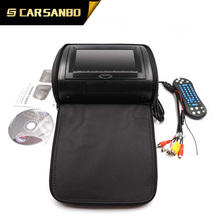 HR9718CB 9inch headrest DVD with zipper,black color
