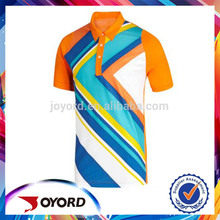 Made In China Custom Short Sleeve Sublimated Polo Shirt Spandex Polo T Shirt For People