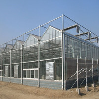 modern polycarbonate greenhouse with palstic roof
