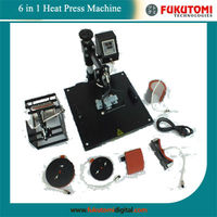 six in one heat press/transfer printing machine