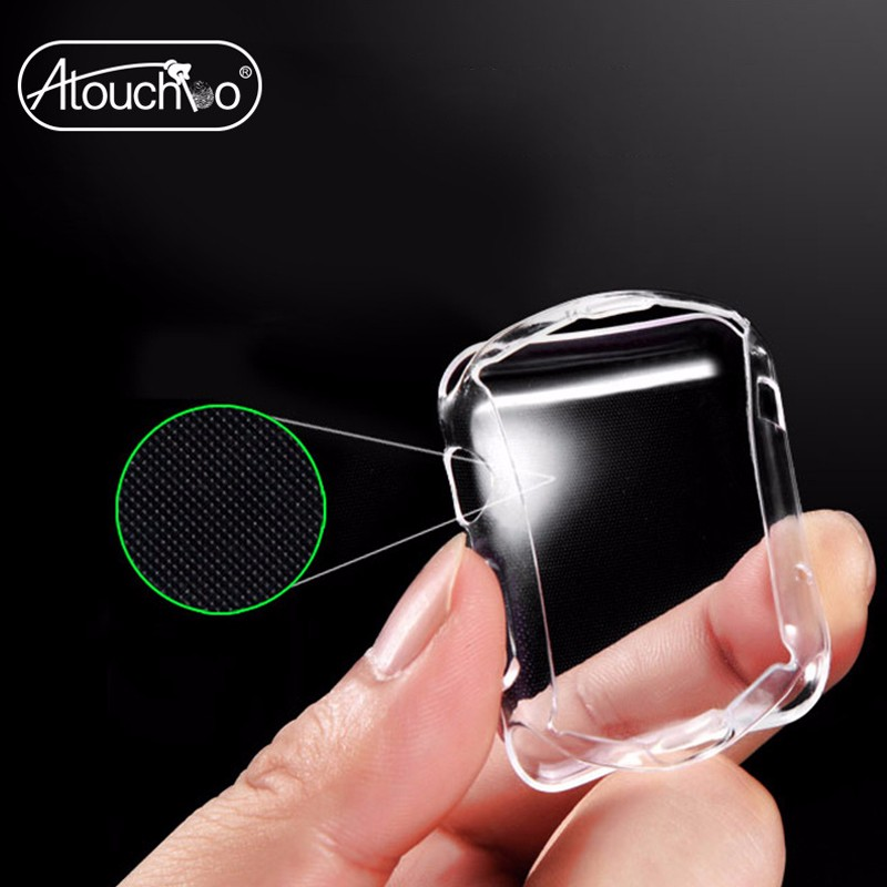 Wholesale New Ultra Thin Soft TPU Watch Case Clear Protective Cover for Apple Watch 38mm