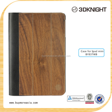 2015 hot sale wood pattern folder for ipad mini case