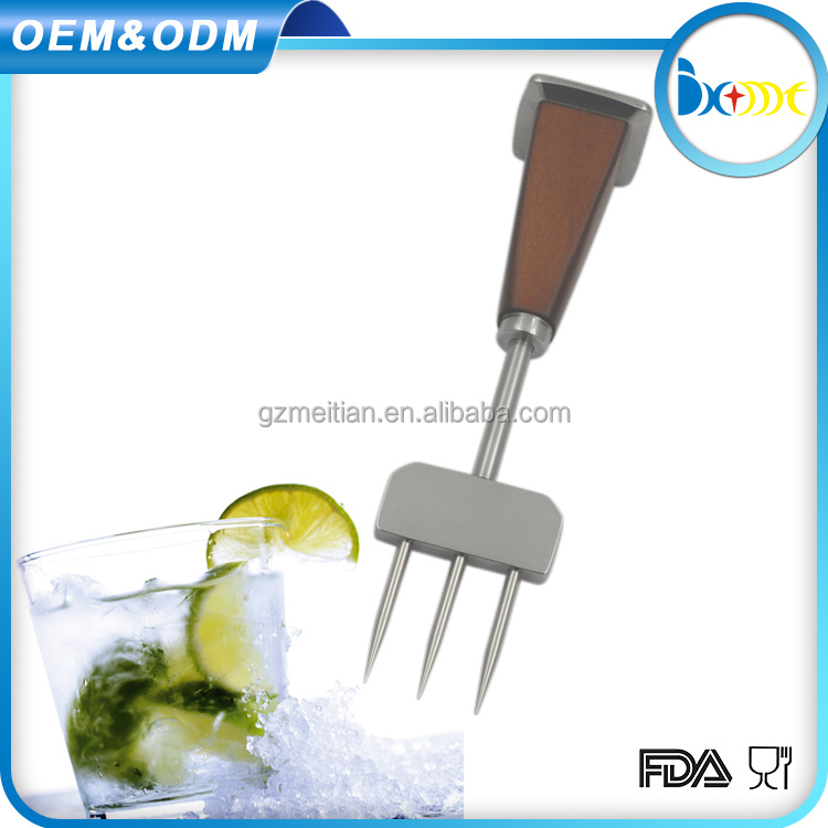 bar tools with three needles metal stainless steel ice pick