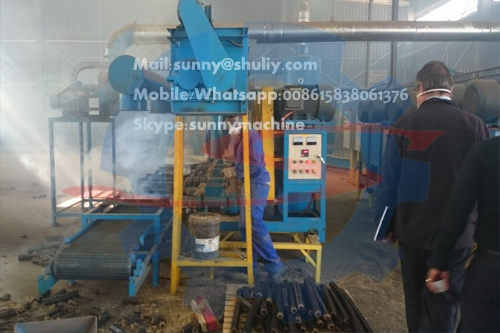 New design Screw Hollow Sawdust Briquette Charcoal Making Machine