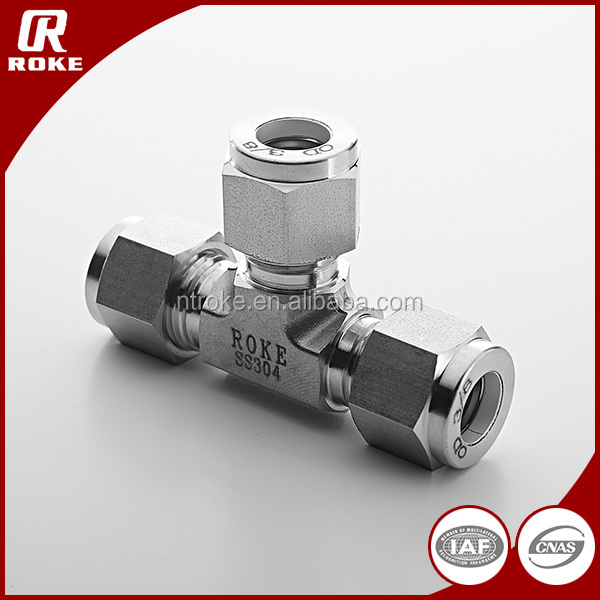 compression fitting tee union stainless steel fittings male connector tube