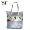 ladies hotselling custom logo printing travelling mesh shopping cosmetic pouch bags make up hand tote bag manufacture