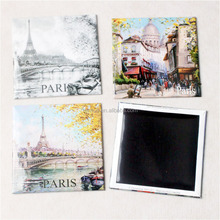Quality Standard Passed paris metal magnet fridge souvenir