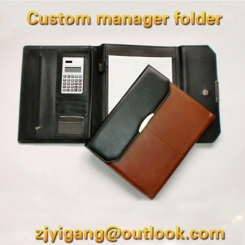 a4 leather portfolio folders with key chains