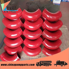 China dn125 st52 bend elbow joint pipes in concrete pump