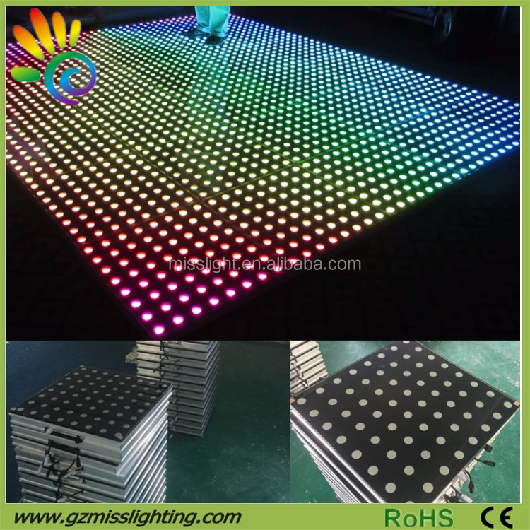 colorful stage lighting Wedding party led digital Slim Dance Floor Patent LED dance floor