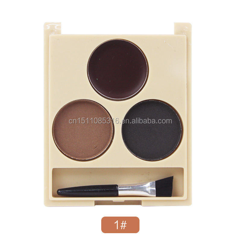 Eyebrow eyebrow pencil color genuine beginners waterproof anti sweat three in one color halo thrush