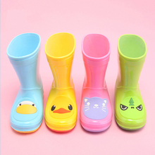 kids cute animal print pvc rain boots reach standard children wellies wellington boots