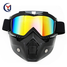 high quality PC or Polarized lens mx motorcycles motocross goggles with face mask