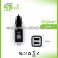 With Dual Usb 2A 2.1A Cell Phone for tablet iphone samsung htc with high quality Car Charger FCC