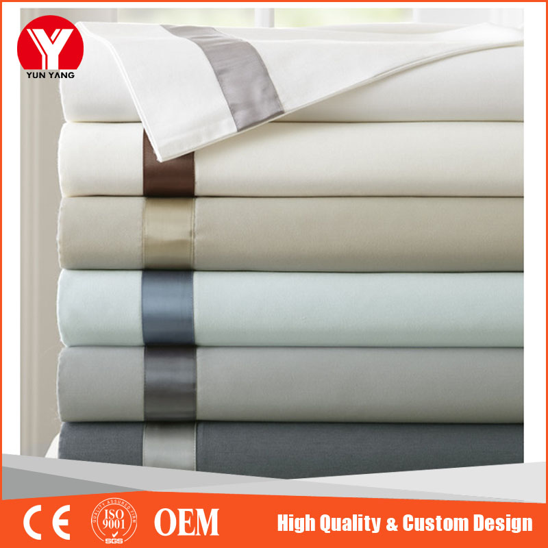 Latest design new anti-bacterial wholesale jacquard weave bed sheet