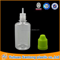 FDA and BV hot sell 50ml plastic e liquid/cigarette/juice nicotine dropper bottles with big mouth childproof cap