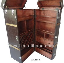 Shipping Trunk Bar in Brown Leather finishing
