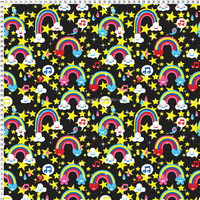 nylon lycra material rainbow colored fabric for swimwear