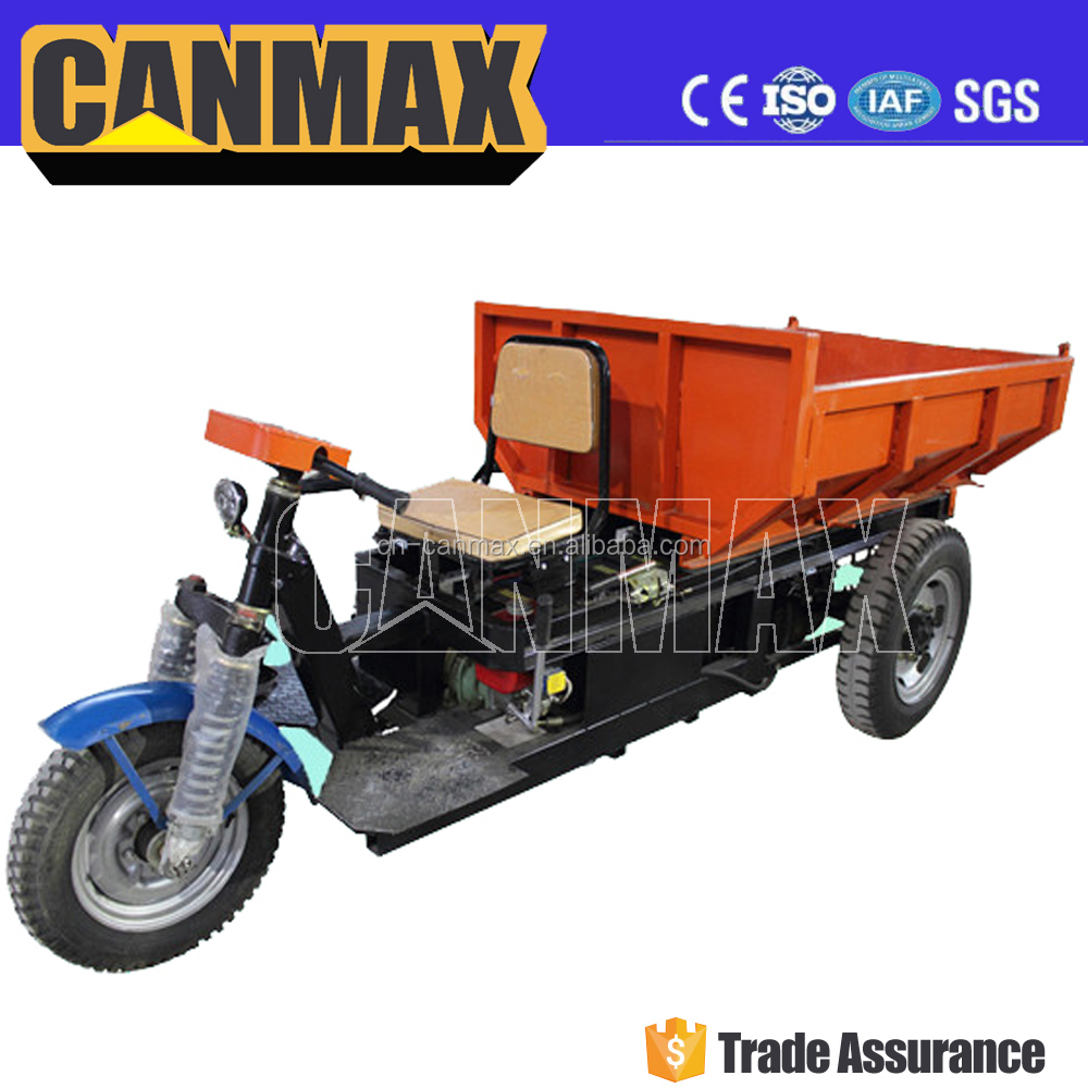 Popular battery cargo tricycle with hydraulic system/high quality three wheels tricycle with cabin