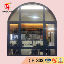 hebei YC-2 ISO9001 low price arched steel fire window with closer
