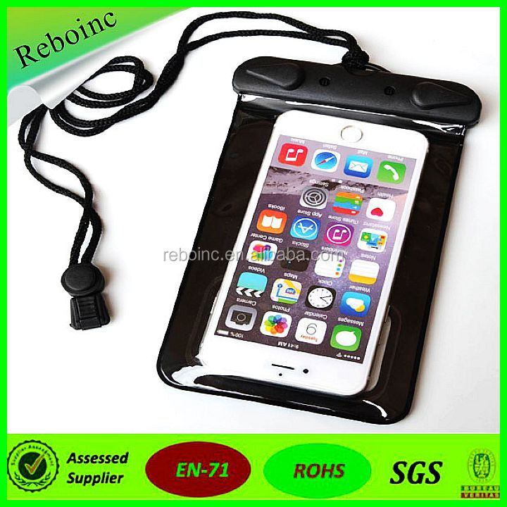 Reboinc-X19 Waterproof Earphone Armbrand Waterproof Case lanyard PVC waterproof bag for mobilephone Iphone 6