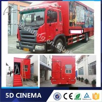 Lechuang Indoor/Outdoor Funny Games 5D 6D 7D Truck Mobile Cinema