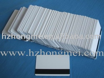 Hi-co/Low-co magnetic strip card