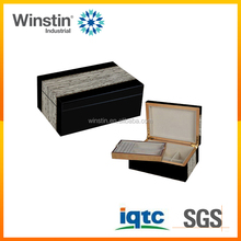 High end gift sets boxes white ice veneer wooden jewelry sets packing boxes