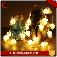 Pine cone warm white christmas decortive outdoor solar garden string lights
