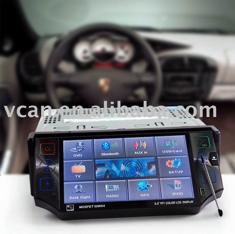 "Car 1 din 5"" GPS with bluetooth ,touchscreen"