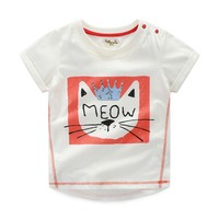 2016 t shirts made in china beautiful printed t-shirts for kids children girls 100 cotton t shirt