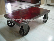 Industrial Trolley Cart with Wheels to Scroll