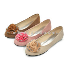 women fashion flat shoes 2013 cheap and nice shoes with flower GP806